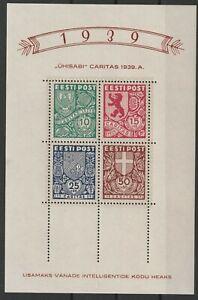 Estonia  Estland 1939 Mi # Block # 3 vf MNH