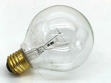 (4-Pack) Standard Incandescent 25-Watt G25 Clear Globe Lamp Light Bulb 25W 130V