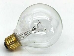 (4-Pack) Standard Incandescent 25-Watt G25 Clear Globe Lamp Light Bulb 25W 130V