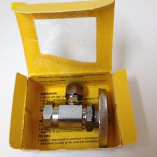 """Or17 C1 Chrome Iron Pipe Angle Stop Valve 1/2"""" Fip Inlet x 3/8"""" Od Lot of 5"""