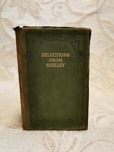 Antique Book Of Selections From Shelley, By William Landells