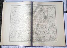 Paris VIII ème - Selves Préfet Très Rare Plan de 1905 au 1/5000 (66,5 x 93 cm)