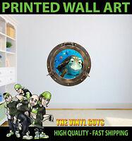 PORT HOLE FINDING NEMO TURTLE CRUSH WALL ART VINYL DECOR PRINT DECAL STICKER