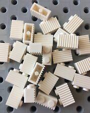 Lego White 1x2 Grill Profile Brick Wall Modular Buildings Castle 25pcs