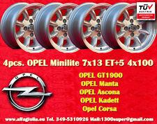 4 Cerchi OPEL Minilite 7x13 ET+5 4x100 Wheels Felgen Llantas Jantes