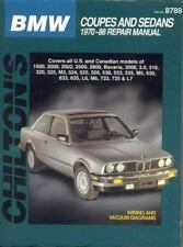 BMW Coupes and Sedans, 1970-88 (Chilton Total Car Care Series Manuals)-ExLibrary