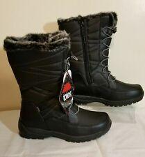 NIB!! TOTES WOMEN'S JOELLE BLACK WATERPROOF BOOTS - SIZE 11M