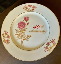 40th Anniversary Plate by Treasure Masters