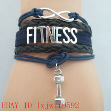Infinity Love FITNESS health dumbbells Bracelet sports friendship Bracelets #447