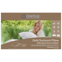 Downia Gold Collection Luxury White Goose Down & Feather Pillow RRP199.95