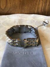 MICHELE BELMORE  2 tone YEL GOLD /SS 18mm  watch bracelet -  ms18fx285048  $500