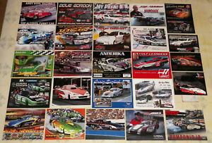 """BIG COLLECTION OF """"65"""" DIFFERENT OLD&NEW ALCOHOL FUNNY CAR DRAG RACING HANDOUTS!"""