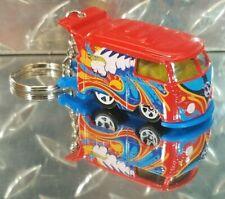 2014 Hot Wheels Red Volkswagen Kool Kombi Custom Key Chain Ring