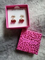 NWT- BETSEY JOHNSON RETRO CHERRY STUD EARRINGS SET