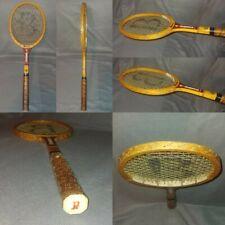Vintage Bancroft Bj Bjorn Borg Signature Burgundy Red Wood Racket Grip 4 5/8