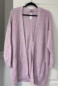 Nwt Talbots 2X T By Talbots Pink Heather Long Sleeve Cardigan Shaker Sweater