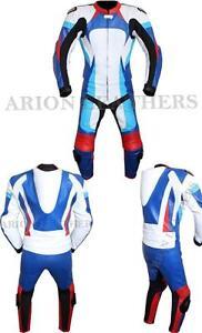 Motorcycle Motorbike 2Pcs Leather Suit Suzuki design Jacket and Trouser