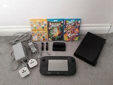 Nintendo Wii U 32GB Console & Games Bundle. Rayman Legends Mario Maker Splatoon