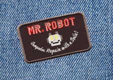 Cool Mr Robot (Special Black) TV Patch Badge for Shirt 10cm Applique
