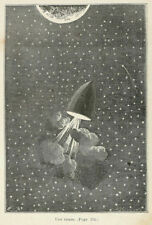 Jules Verne Around the Moon 1870 illustration by EA Bayard 7x5 Inch - Reprint 19