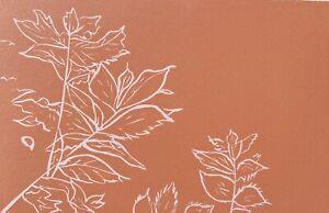 Mother's Day,Leaves, Nature, Plant,Botanical  Original Linoprint