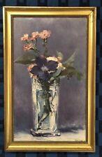 Reproduction Peinture De Édouard Manet Œillets Et Clématites Thémois 1972