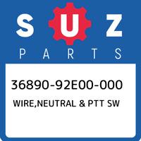 36890-92E00-000 Suzuki Wire,neutral & ptt sw 3689092E00000, New Genuine OEM Part
