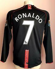 Manchester United 2007 - 2008 Away football Nike long sleeve jersey #7 Ronaldo