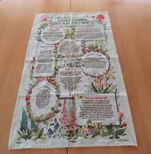 New listing Cotton kitchen dish towel with printed Traditional Welsh Recipes - Wales U.K.