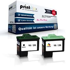 2x Jumbo Ink cartridges for Lexmark X 1270 16 + 26 17 + 27 Pack - Eco Pro Series
