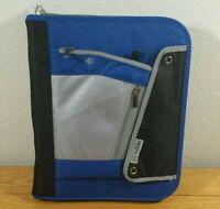 MEAD PRO PLATINUM Vintage 2009 Zip Up Notebook Expanding File Blue 3 RING BINDER