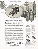 1920s BIG Original Vintage Selby Arch Preserver Shoes Footwear Art Print Ad