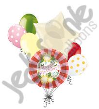 7 pc Pretty Flower Happy Birthday Balloon Bouquet Grasshopper Mum Flower Grandma