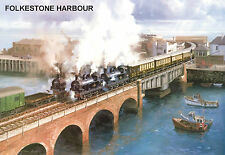 "Hornby Dublo in Railway Art ""Folkestone Harbour"" No. 14 Signed & Numbered."