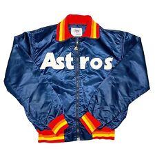Vtg Rare New With Tags MLB Houston Astros Starter Satin Jacket. Mens Large