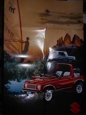 Prospekt Sales Brochure Suzuki SJ 410 V Geländewagen Off Road Cabrio California