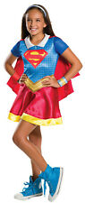 Kids Girls Supergirl Superman Superhero Book Day DC Comic Costume Outfit 3-8