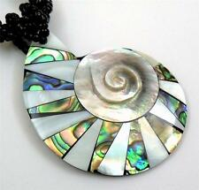 -Of-Pearl Beads necklace; Ga282 Paua Abalone Shell & Mother