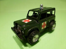 SOLIDO LAND ROVER - MILITARY AMBULANCE - ARMY GREEN  - GOOD CONDITION - FRICTION