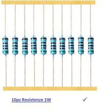 10pz Resistenza 100 Ohm 1W a strato di carbone 5%