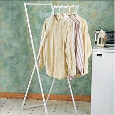 "Folding Clothes Drying Rack 60"" Storage Laundry Coats Wet Hanger Portable Light"