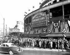 1945 Chicago Cubs WRIGLEY FIELD Glossy 8x10 Photo NL Champions Print Poster