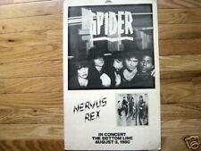 Bottom Line NYC concert poster Spider, Nervous Rex punk