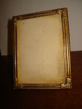 "ANTIQUE ART DECO DESK PHOTO/PICTURE GILDED FRAME  4"" VULGARIS FRAME no Glass"