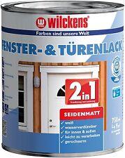 Wilckens 2in1 Fenster & Türenlack, Lackfarbe weiß seidenmatt 750 ml.