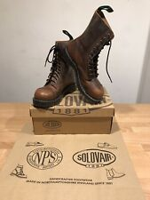 NPS SOLOVAIR Brown Grease Steel Toe 11 Eye Derby Boot!SizeUK7!New!Only £149.90!