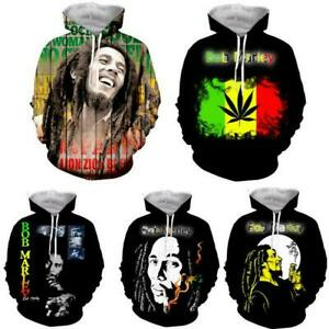 New 3D Print Bob Marley Men Women Hoodie Sweater Sweatshirt Jacket Pullover