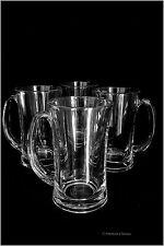 Set of 4 Clear Glass Mug Irish Glasses Iced Coffee Cups Tea Mugs