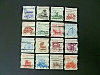 USA 1981-1984 Lot of 16 Transportation Issue Coils Used - See Description