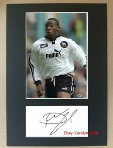 Paulo Wanchope Hand Signed A4 Display Derby County Manchester City Costa Rica